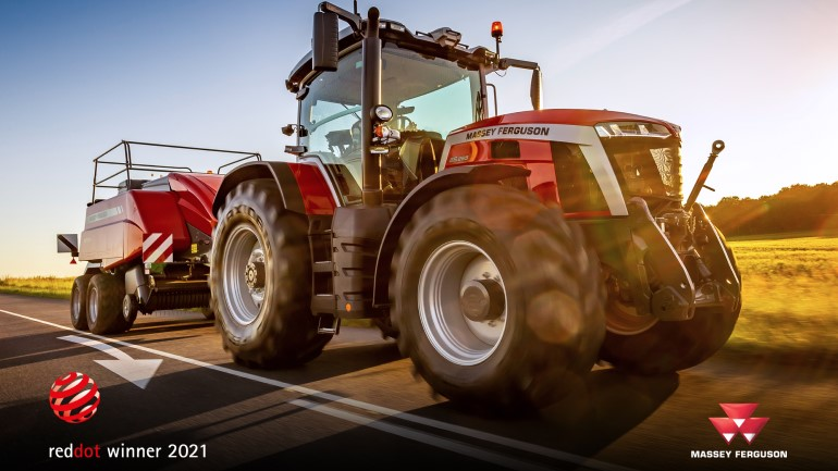 Prestigious Red Dot: Product Design 2021 Award for MF 8S Series tractors
